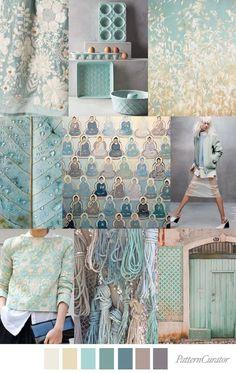 TRANQUIL TEAL | pattern curator | Bloglovin' mood board