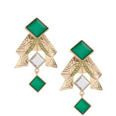 Asos Origami Pleated Deco Clip On Earrings