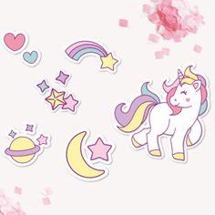 Kit imprimible de Unicornios para que puedas crear una fiesta muy mágica! Mirá todas las fotos en www.cumplekits.com