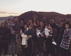 Big family: Caitlyn also joined the Kardashian-Jenner family for Thanksgiving, with Kim sh...