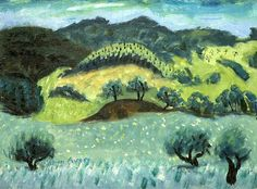 Milton Avery-Landscape and Rolling Hills