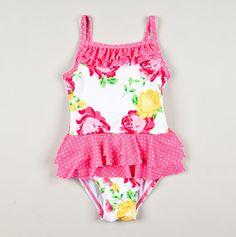 Adorable toddler floral swim suit ♥