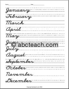 1000 Ideas About Teaching Cursive Writing On Pinterest