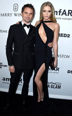 Kate Hudson's Ex Matthew Bellamy and Elle Evans Stun at amfAR Inspiration Gala | E! Online Mobile