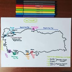 Geography, Antalya, Bullet Journal, Notes, Study, Education, School, Report Cards, Studio