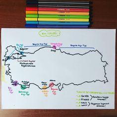 Kıyı tipleri Geography, Antalya, Bullet Journal, Notes, Study, Education, School, Report Cards, Schools