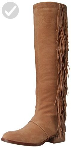 9add883be46 Sam Edelman Women s Josephine Slouch Boot  Fringed Sam Edelman boots with a  vintage-inspired feel. Stacked heel and synthetic sole.