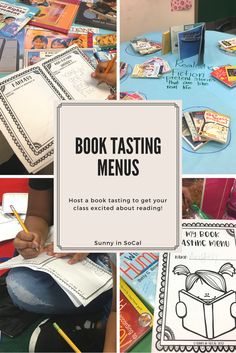 Printable Book Tasting Menu. Students explore your classroom library and discover new titles, authors, and genres. This is an engaging activity to introduce readers to new books and encourage them to step outside their reading comfort zone. Your reluctant readers & struggling readers will uncover books that spark their desire to read. Perfect for elementary school, middle school, or high school students.