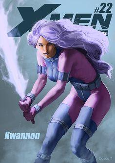 X-MEN: A Brazilian Tribute to 51 Years on Behance #22 - Revanche (Kwannon) por Jon Bosco