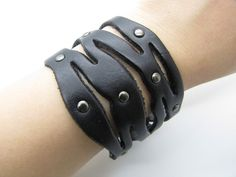 10 OFF Cool Charming Leather Rivet Bracelet With by sevenvsxiao, $8.00