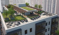 Revised Gold Coast apartment proposal to get public debut - Curbed Chicagoclockmenumore-arrow : The project would replace the Gold Coast's sole remaining undeveloped parcel along Lake Shore Drive Terrace Garden Design, Rooftop Design, Sky Garden, Rooftop Patio, Rooftop Restaurant, Rooftop Gardens, Green Architecture, Architecture Design, Sustainable Architecture