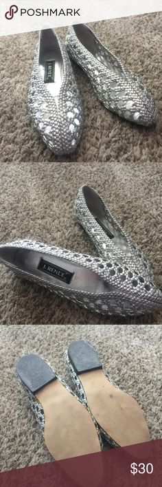 🖍Back To School Sale🖍 J. Renee Cute silver flats by the brand J. Renee in excellent condition in size 5 1/2 m.                                                                                     ❌ No Trades.                                                                           ✅ Open to reasonable offers.                                                🖍Back To School Sale going on in my closet until midnight on August 19th. Bundles of 3 or more will be 20% off. Shop now so you don't…