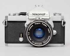 ($80.00) The Nikomat FT is a semi-professional 35mm SLR that as produced in the mid 1960's.The Nikomat FT is the japanese version of the Nikkormat FT. It's a fully mechanical camera, and requires a battery only for the light meter. Everything is working properly. The shutter fires accurately on all speeds. Film advances and rewinds properly. The light meter works and seems accurate. The included 50mm F/2 lens is in great shape as well, with smooth focus, snappy aperture, and clear glass.