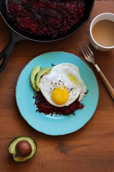 Beet Hash Browns - beets, olive oil (would reduce/omit), salted butter (would reduce/omit), sea salt