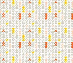 This Way and That: Gray fabric by nadiahassan on Spoonflower - custom fabric