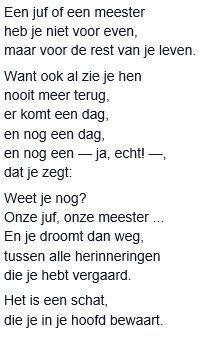 Gedichtjes van Geert de Kockere over het einde van het schooljaar en over afstuderen.