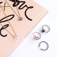 In love with these rings and necklaces :heart_eyes: Get your layering game ready for Summer :punch: