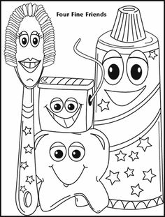 dental hygiene coloring page great for kids who are waiting for an exam or with their parents