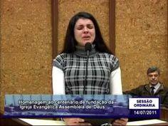 Conselheira Gislaine Pires, homenagem a Igreja Evangélica Assembleia de ...