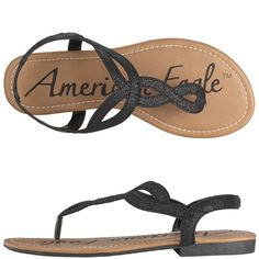 Whitney Sandal by American Eagle (black glitter) - on sale $16.99 @ http://www.payless.com