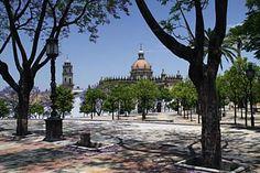 Blick auf die Kathedrale von Jerez de la Frontera