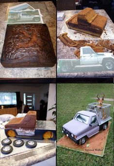 truck cake step-by-step by Verusca.deviantart.com