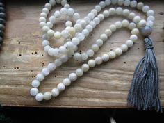 Moonstone Mala, Buddhist mala, Pure Land mala, Buddhist prayer beads, Buddhist rosary, by MagickAlive on Etsy