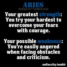 Aries strength weakness