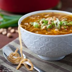 Pad Thai Soup. Quick, easy, healthy, and gluten free--there's even a vegan option. Perfect!