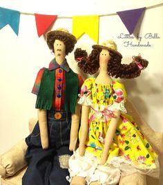 Family doll tilda doll style custom doll couple doll Sao João doll Human Figure Doll Parents Cloth Doll  Textile Doll  Handcrafted Dolls