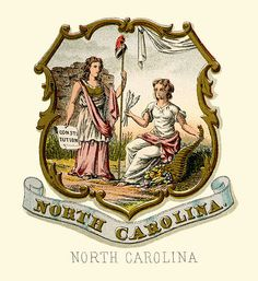 North Carolina state coat of arms (illustrated, 1876)