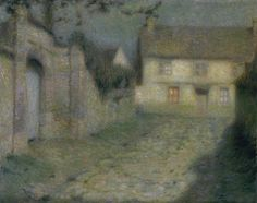 henri le sidaner(1862-1939), moonlight at gerberoy, 1904. oil on canvas, 65.4 x 81.3 cm. tate gallery, london, uk http://www.tate.org.uk/art/artworks/le-sidaner-moonlight-at-gerberoy-n03657