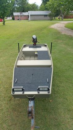 New 2016 tracker 14 jon boat… – Now YOU Can Build Your Dream Boat With Over 500 Boat Plans! Duck Hunting Boat, Duck Boat, Aluminum Fishing Boats, Aluminum Boat, John Boats, Flat Bottom Boats, Free Boat Plans, Boat Restoration, Plywood Boat