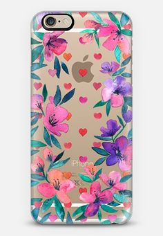 Hearts and Blossoms - translucent iPhone 6s case by Micklyn Le Feuvre | Casetify