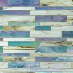 Ivy Hill Tile Matchstix Fate in. x 3 mm Glass Floor and Wall Tile, Iridescent Shades of Blue + Pink/ White + Hint of Gray Iridescent Tile, Glass Floor, Glass Tile, Pool Tile, Ivy Hill Tile, Splashback Tiles, Wall Tiles, Mosaic Glass, Iridescent Glass Tiles