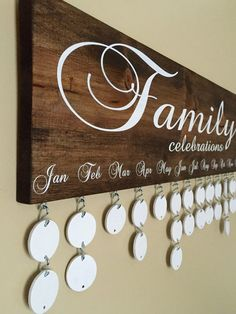 Family Celebrations Board with 24 Discs | Family Birthdays Calendar