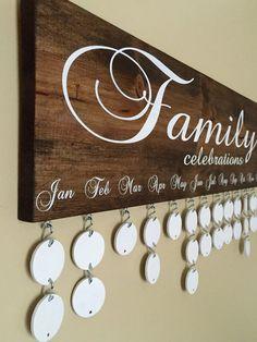 Family Celebrations Board with 24 Discs | Family Birthdays Calendar