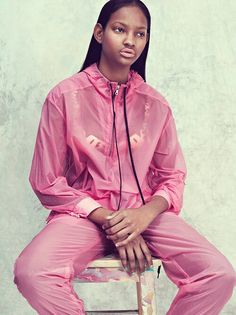 transparent pink warm up suit. Raincoat Outfit, Rain Jacket, Windbreaker, Sporty, Pink, Jackets, Outfits, Color, Women
