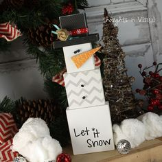 Stacking Snowman   Winter crafts   Wood crafts   Let it snow   Wood snowman