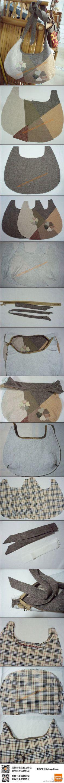 #手工教程#自制心迹斜挎拼布包(via:蒲公英)初学者可以用羽织布组材料包,内涵详细制作说明,可轻松制作包包