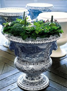 Blue White Large Urn Planters And China Love