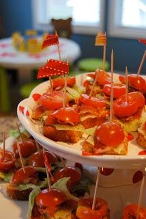 BLT snack for party …..very creative