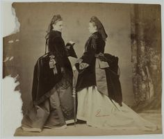 Models for the illustrators of 'Revue de la Mode', ca. 1875.
