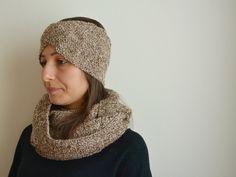 Set Scaldacollo Loop e Fascia Paraorecchie lavorati a maglia, Accesori per l'inverno, 100% Alpaca di AlpacaDiMarano su Etsy