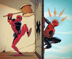 Spider-Man and Deadpool - WHACKAMOLE!!!!