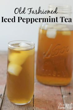 Cold Peppermint Tea Peppermint iced tea is the perfect cooling drink on hot days!Peppermint iced tea is the perfect cooling drink on hot days! Refreshing Drinks, Summer Drinks, Fun Drinks, Healthy Drinks, Beverages, Healthy Food, Plat Vegan, Iced Tea Recipes, Health And Wellness