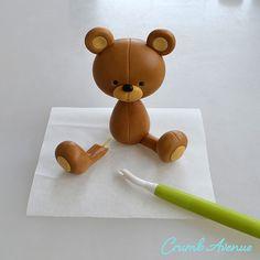 Crumb Avenue - Easy to follow cake topper tutorials | Tutorials | Valentine Teddy