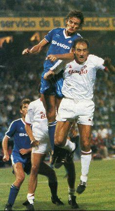 Kevin Moran & Bryan Robson #MUFC v Roma Pre-season tournament 1984