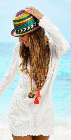 Vestido branco - estilo boémio