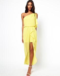 ASOS – One-Shoulder-Kleid mit Schlitz vorne